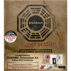 LOST Season 5 Dharma Initiative Orientation Kit DVD Set with Dharma Patches