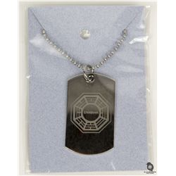 LOST Dharma Logo Dog Tag Necklace