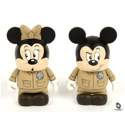 Exclusive Cancer Gets LOST Custom-Made Vinylmation Dharma Mickey & Minnie Set
