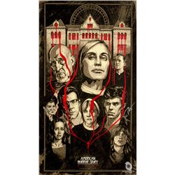 American Horror Story: Asylum PaleyFest 2014 Screen Print Signed by Frances Conroy & Evan Peters