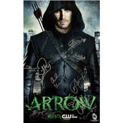 Arrow Season 1 Mini Poster Signed by Cast, Executive Producers & Writers