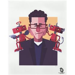 "Bad Robot Limited Edition ""Bad Robot, Good Robot"" Screen Print by Daniel Nyari"