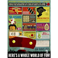 "Bad Robot ""Here's a Whole World of Fun"" Digital Print by Dana Lechtenberg"