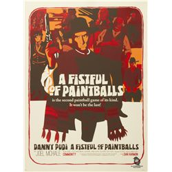 """Community """"A Fistful of Paintballs"""" Poster by Mason Phillips"""