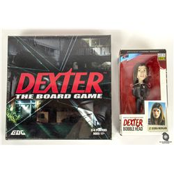 Dexter The Board Game & Debra Morgan Bobblehead Set