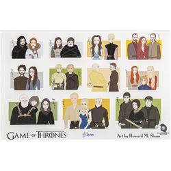 """Game of Thrones """"Character Pairings"""" Print by Howard M. Shum"""