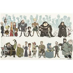 Game of Thrones Character Print by Stephen Silver