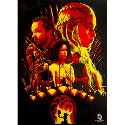 """Game of Thrones """"House Targaryen"""" Limited Edition Screen Print by Joshua Budich"""