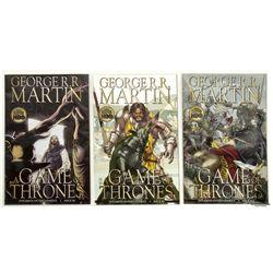 Set of Game of Thrones Comic Books, Soundtrack CD & Stuffed Direwolf