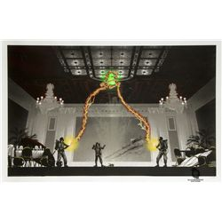 """Gallery1988 Ghostbusters """"The Flowers Are Still Standing"""" Screen Print by Mark Englert"""