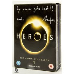 Heroes Complete Season 1 DVD Signed by Milo Ventimiglia