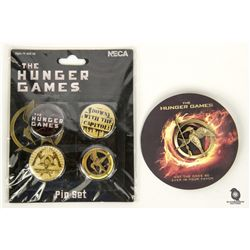 The Hunger Games Mockingjay Pin & Button Set