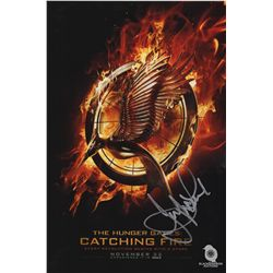 Jennifer Lawrence Signed The Hunger Games Catching Fire Photo
