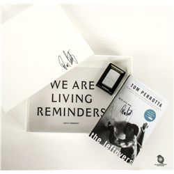 The Leftovers Press Kit Box, Zippo lighter & Tom Perrotta Book Signed by Damon Lindelof