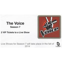 Pair of VIP Tickets for a Live Taping of The Voice Season 7