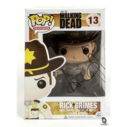 The Walking Dead Pop Funko Rick Grimes Figure Signed by Andrew Lincoln
