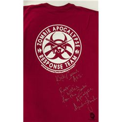 "The Walking Dead ""Zombie Apocalypse Response Team"" T-Shirt Signed by Andrew Lincoln"