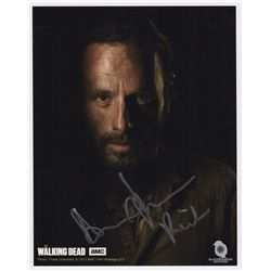 The Walking Dead Rick Grimes Character Portrait Signed by Andrew Lincoln
