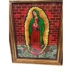 Virgin of Guadalupe Straw Mosaic