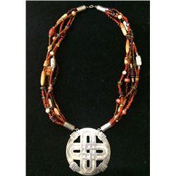 Southwest Style Multi Strand Necklace