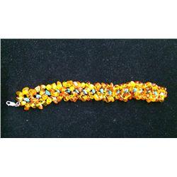 Multi Strand Amber Bracelet