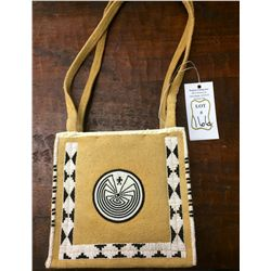 Beaded Man in the Maze Leather Purse