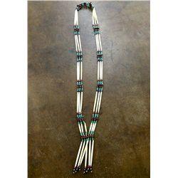Large Bone Bead Necklace