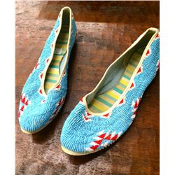 Beaded Ladies House Slippers