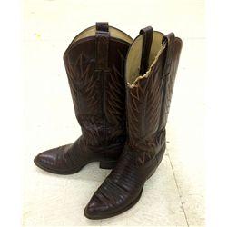 Pair of Lizard Cowboy Boots