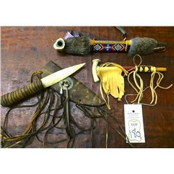 Peace Pipe and Knife Lot