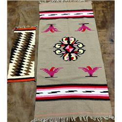 Vintage Mexican Sarape and Runner