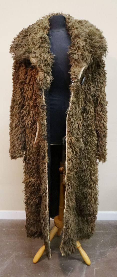 Buffalo robe coat, very good