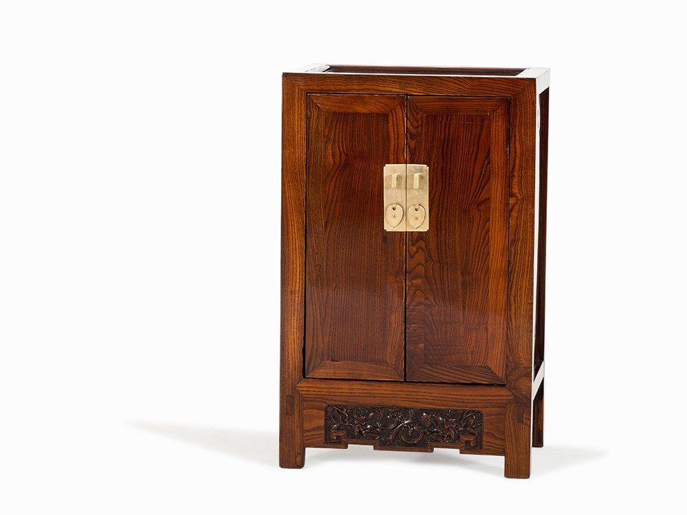 huanghuali small two door cabinet 18th c rh icollector com  small double door cabinet