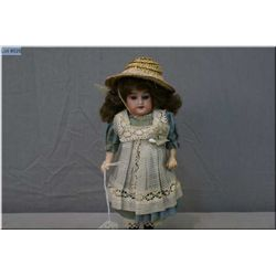 """8"""" Globe baby by Carl Hartmann, original body and clothing, replaced wig, no cracks or chips, marked"""
