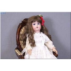 """28"""" Morimura -10- Japan doll with excellent bisque, no cracks or hairlines, sleep eyes, open mouth o"""