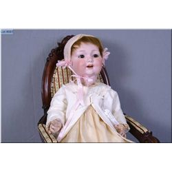 """23"""" German George Borgfeldt G327B baby doll with good bisque, no crack or hairline, but has a promin"""