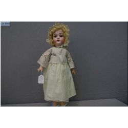 """20"""" Limbach """"Wally"""" with sleep eyes, old clothes, good bisque, no chips, no cracks or hairlines. Com"""