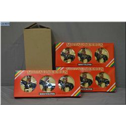 Three boxes of Britain?s metal models Royal Canadian mounted police models # 7236