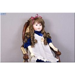 """27"""" German Max Oscar Arnold, MOA, Welsch & Co. doll with excellent bisque, no cracks or hairlines, s"""