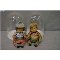 """Composition 11"""" Ming Ming and Ling Ling dolls in original costumes made by the Quan Quan Doll Co. of"""