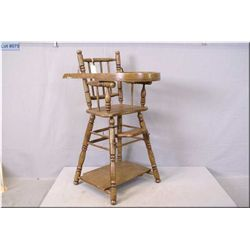"""Doll's wooden convertible highchair 28"""" in height"""