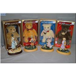 Four new in box Jan Hagara Signature collection figures including Julie, Jessica, Holly and James an