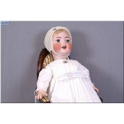 """Beautiful and rare 27"""" Cuno & Otto Dressel baby doll on composition body with blue green glass eyes,"""