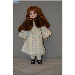 """14"""" German bisque head doll , no cracks, no hairlines, appears to have a scratch on her forehead, se"""