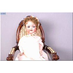 """20"""" Armand Marseille 1330 painted bisque head doll on composition baby body with sleep eyes, origina"""