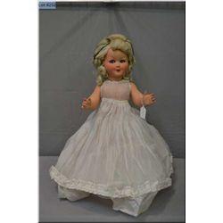 "Vintage 26"" Italian Brevetlato flirty eyed doll with original undergarments, shoes and hair in origi"