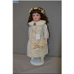 """20"""" Armand Marseille 370 doll with bisque head, sleep eyes on composition and leather body circa 189"""