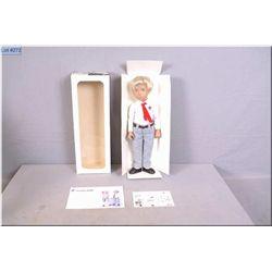 Vintage Sasha School boy Gregor doll #314S with blonde hair, original box and small silver wrist tag