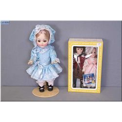 Three vintage Effanbee dolls including 1981 Bebe Denise 3881 and Cousin Jeremy and Little Bo Peep