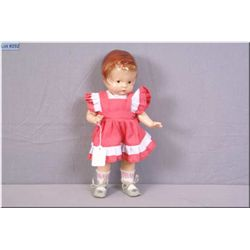 """Vintage Effanbee 14"""" Patsy doll, painted composition, very light crazing and original shoes. Auction"""